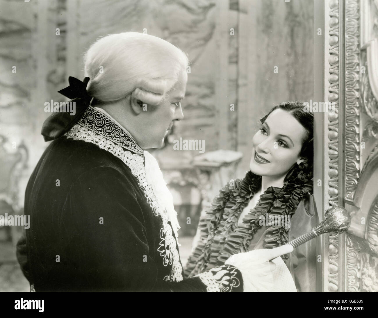 Actress Dolores Del Rio in the movie Madame du Barry, 1934 - Stock Image