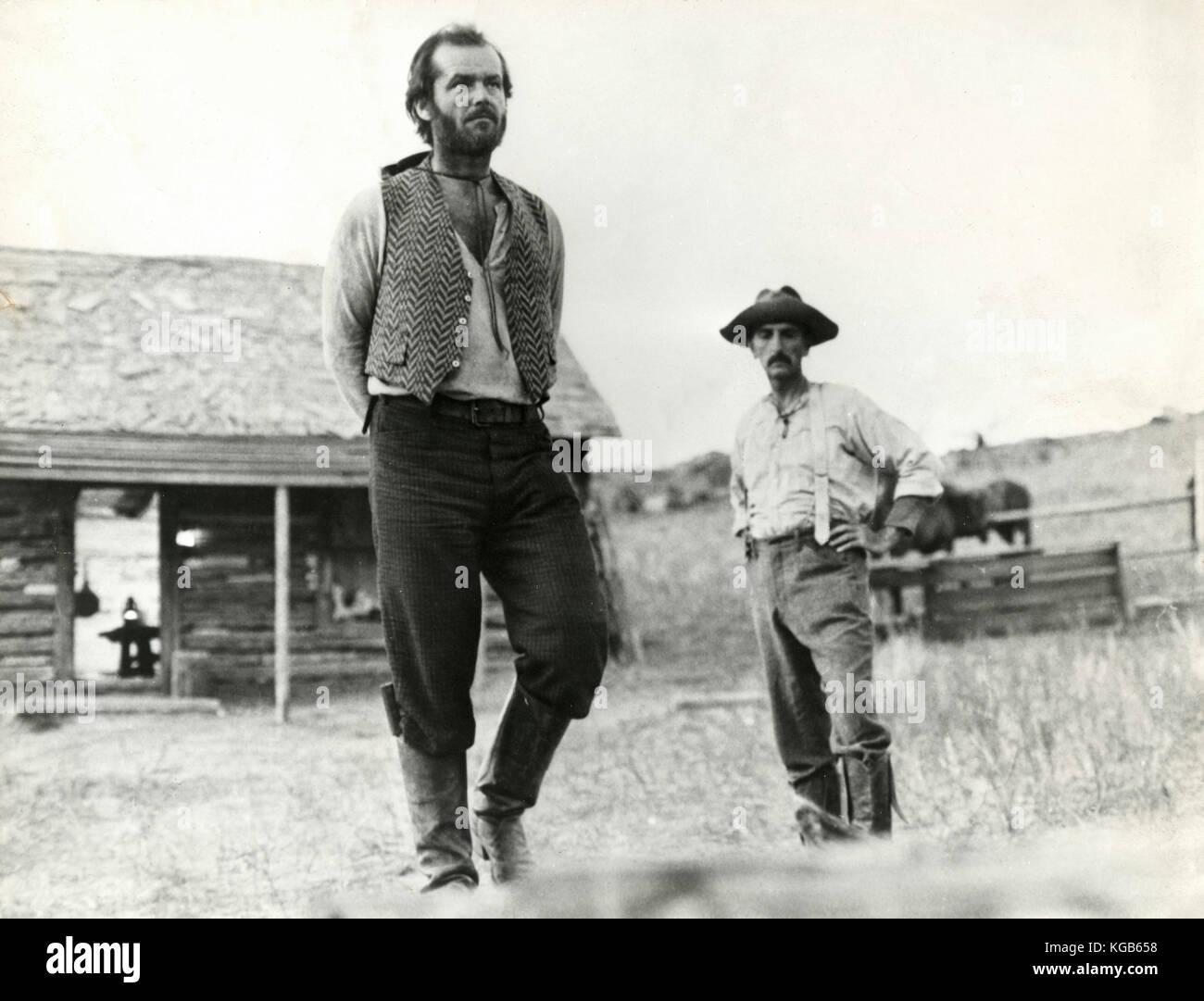 Actor Jack Nicholson in the movie Missouri Breaks, 1976 - Stock Image