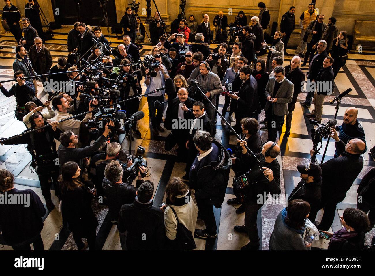 Sadak Souici / Le Pictorium -  Trial Merah, lawyer Elie Korchia and lawyer Ariel Goldmann -  02/11/2017  -  France - Stock Image