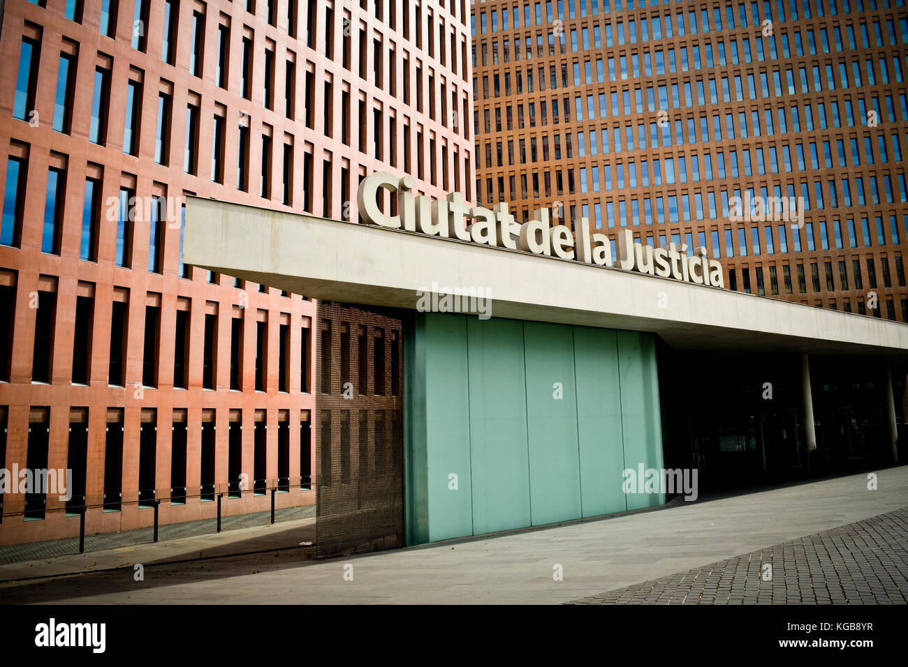Ciutat de la Justicia. Barcelona, Catalonia, Spain. - Stock Image