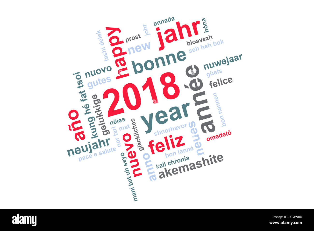 Happy New Year Cut Out Stock Images & Pictures - Alamy