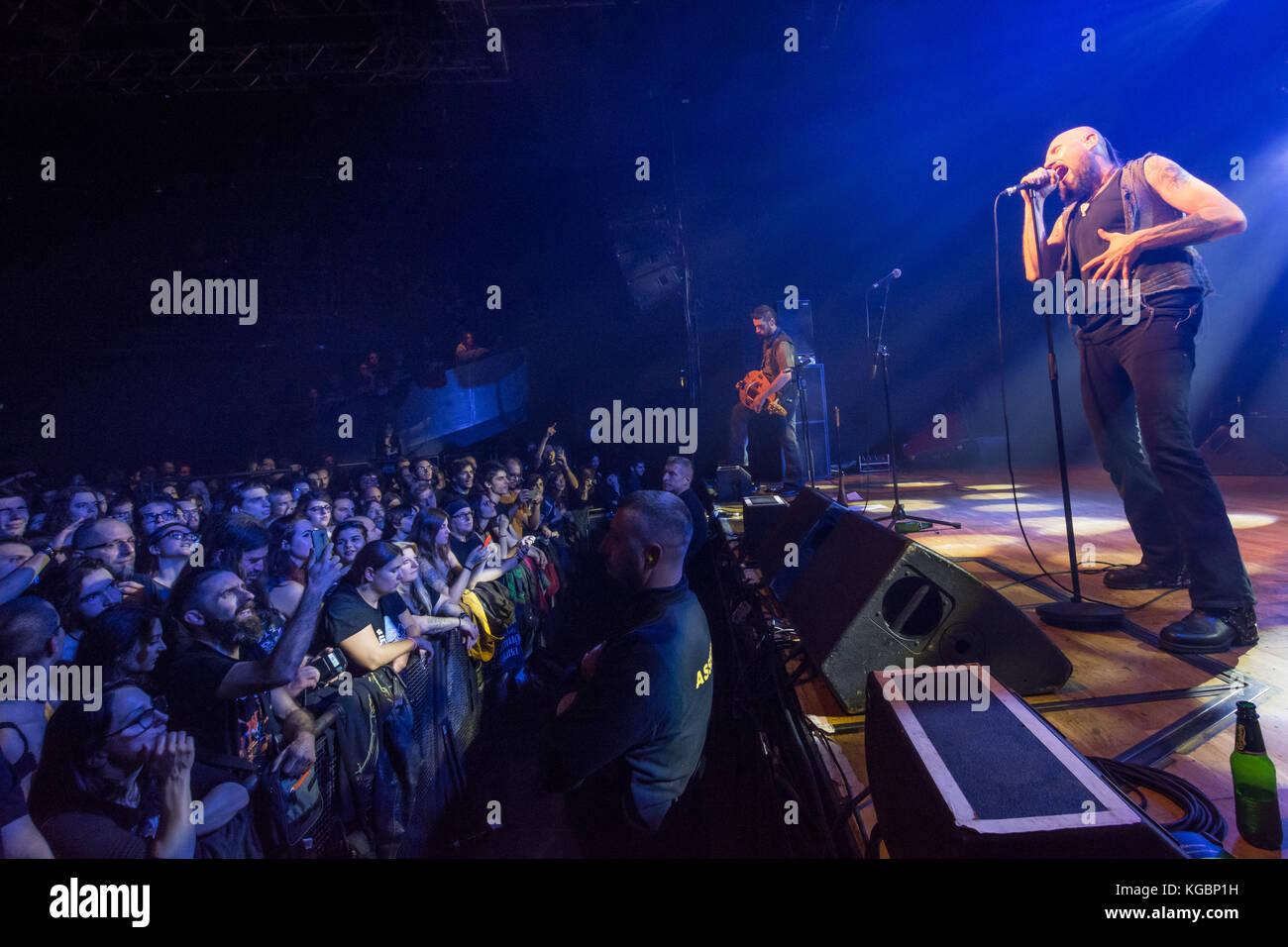 Milan, Italy. 4st November 2017. Italian folk rock band Folkstone performs at Live Music Club. Credit: Simone Brambilla/Alamy Stock Photo