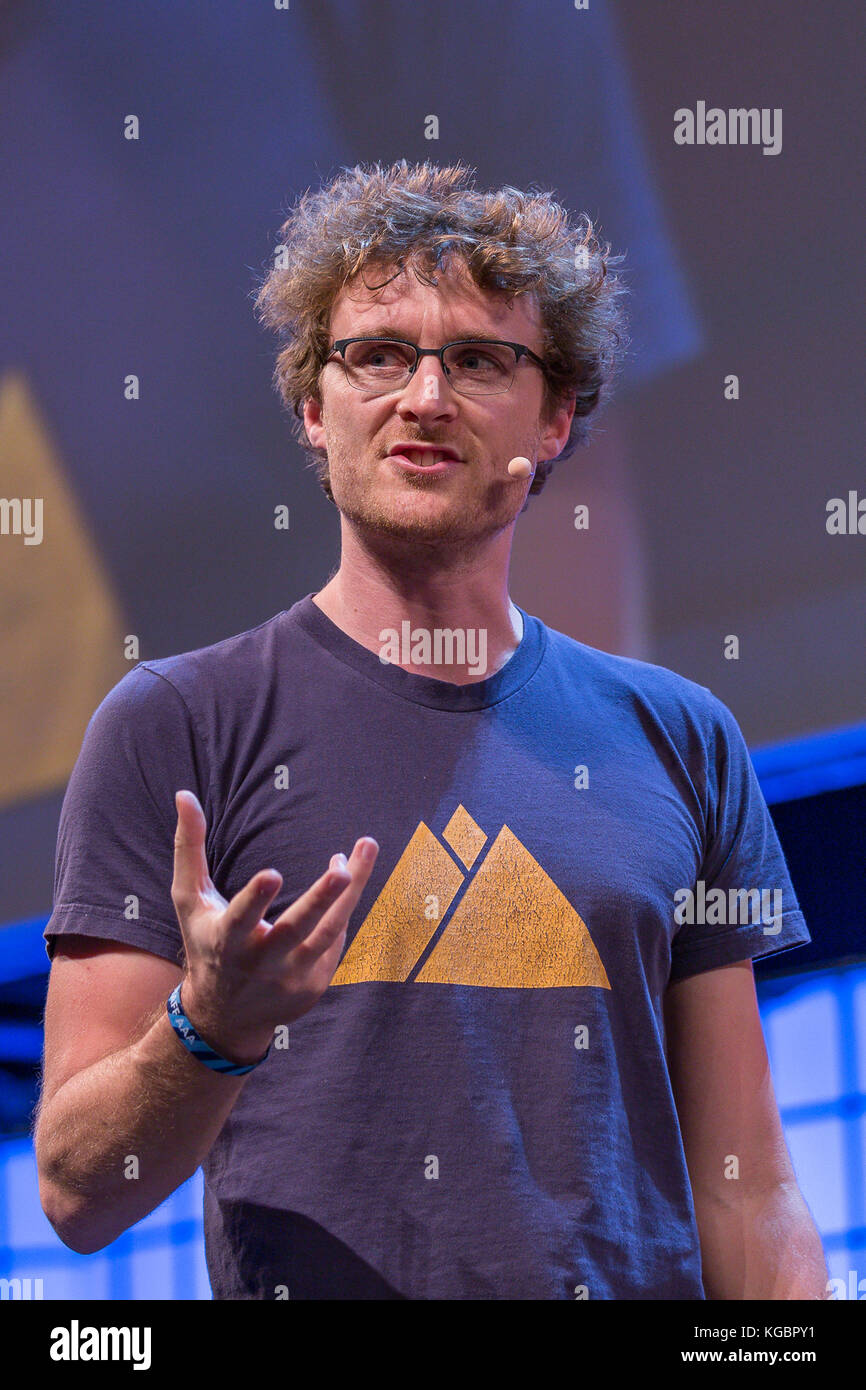 Lisbon, Portugal. 06th Nov, 2017. Founder & CEO of Web Summit, Paddy Cosgrave in Web Summit 2017, in Lisbon, - Stock Image