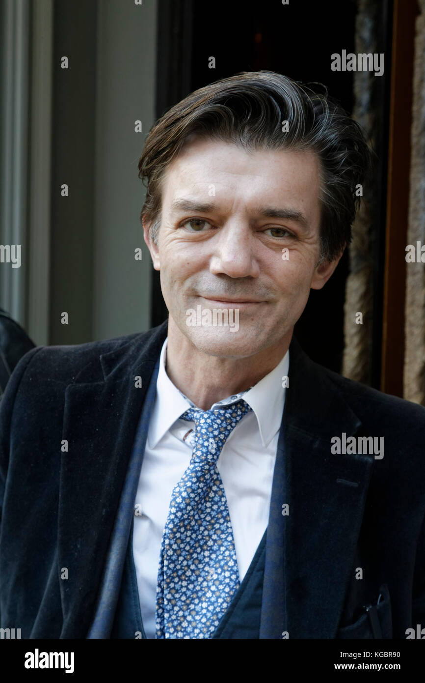Paris, France. 6th Nov, 2017. Wilfried Lecarpentier-Monville attends the Prix Goncourt at the Drouan restaurant - Stock Image
