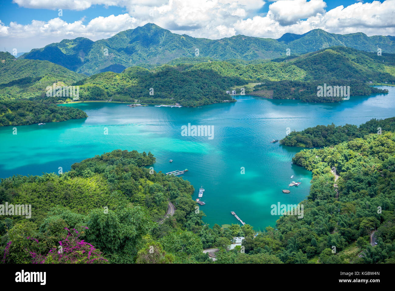Landscape of Sun-Moon Lake in Nantou, Taiwan - Stock Image
