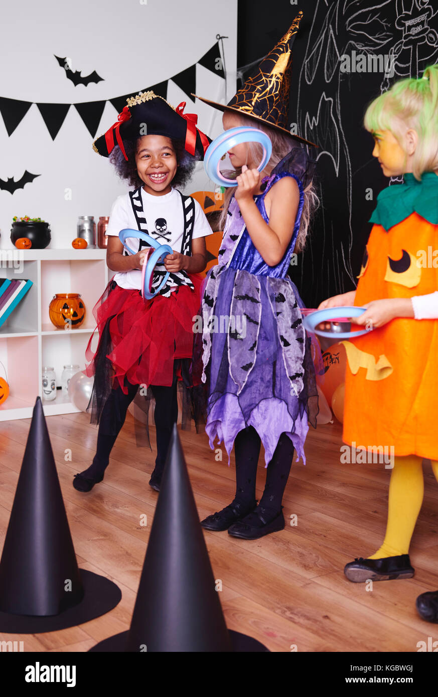 Girl taking part in different fun - Stock Image