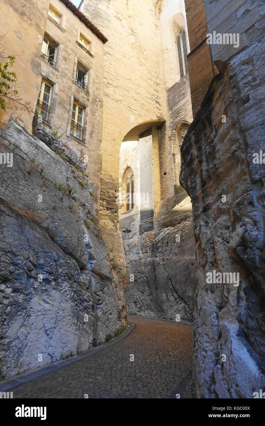 Rue in Avignon - Stock Image