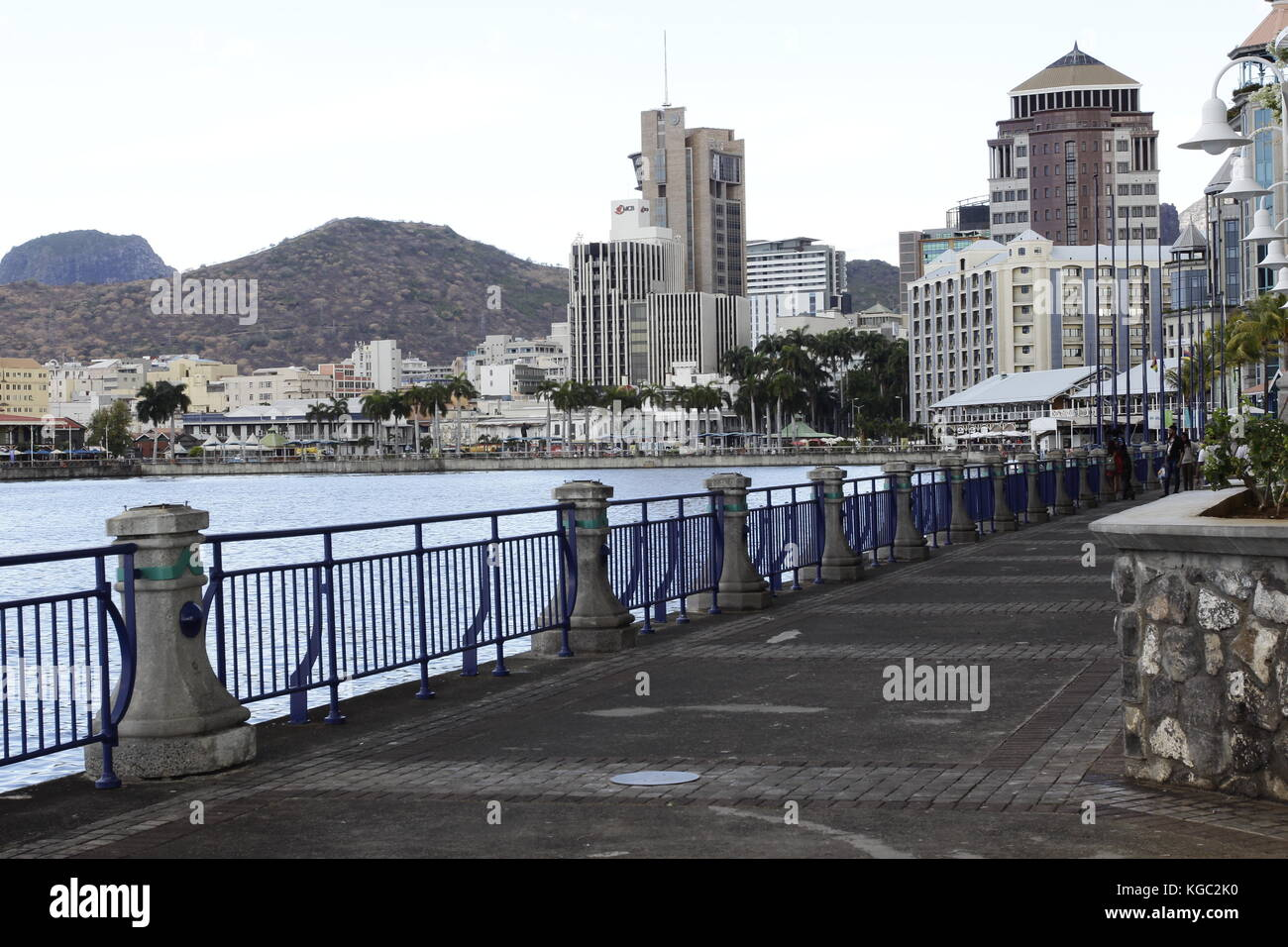 Le Caudan Waterfront is a commercial development in Port Louis, the capital city of Mauritius. It includes shops, - Stock Image