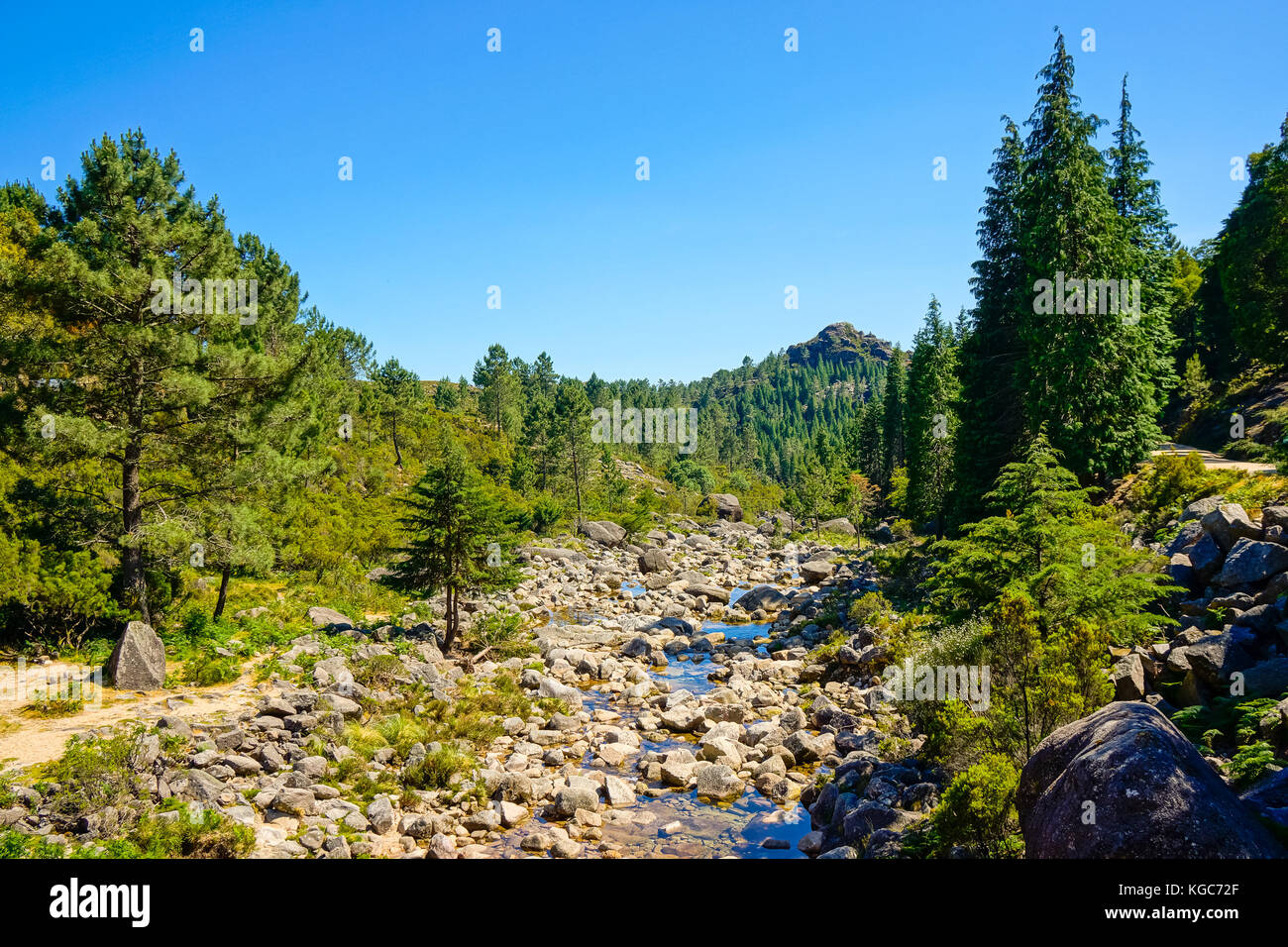 Geres, Portugal summer mountain landscape Stock Photo