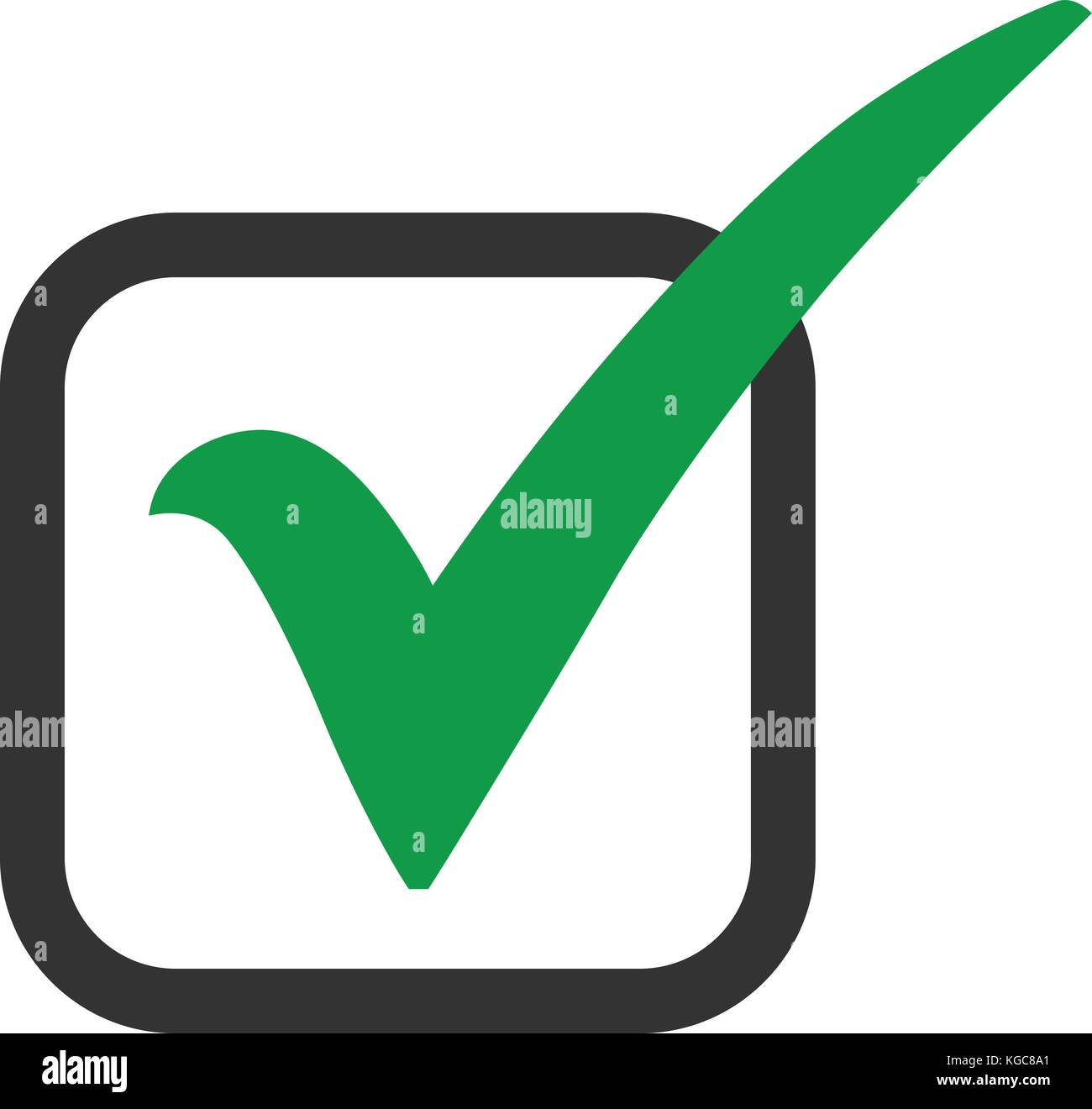 Green check mark icon in a box tick symbol in green color vector green check mark icon in a box tick symbol in green color vector stock vector art illustration vector image 164997785 alamy biocorpaavc Image collections