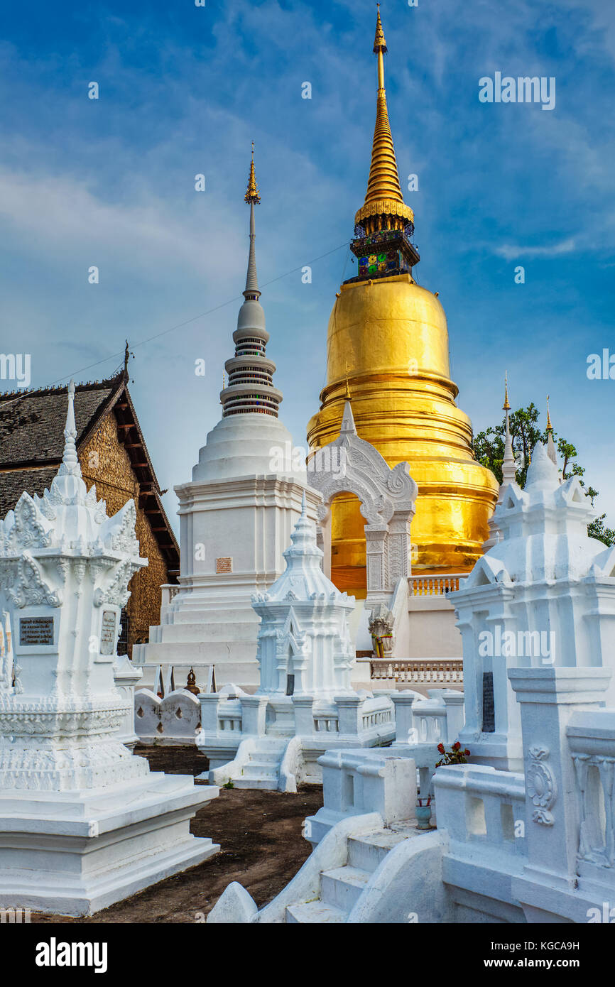 Wat Suan Dok temple, Chiang Mai, Thailand - Stock Image