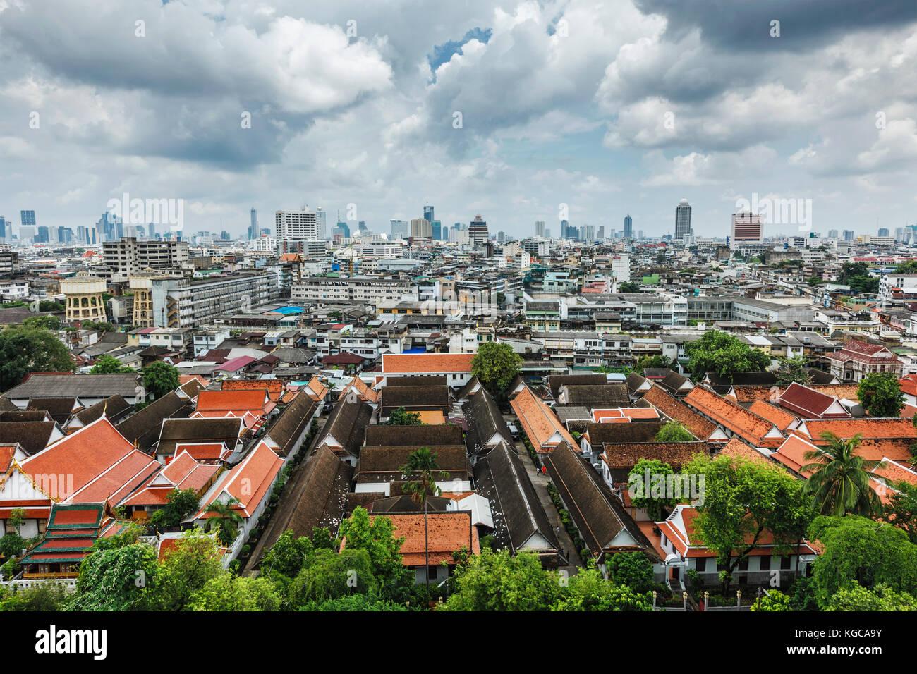 Aerial view of Bangkok, Thailand - Stock Image