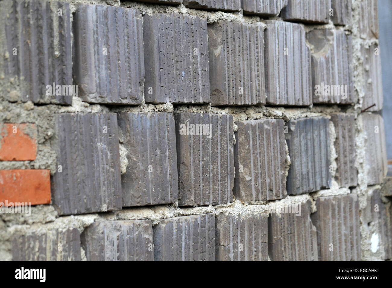 Sandstone / Wall made of natural stones. - Stock Image