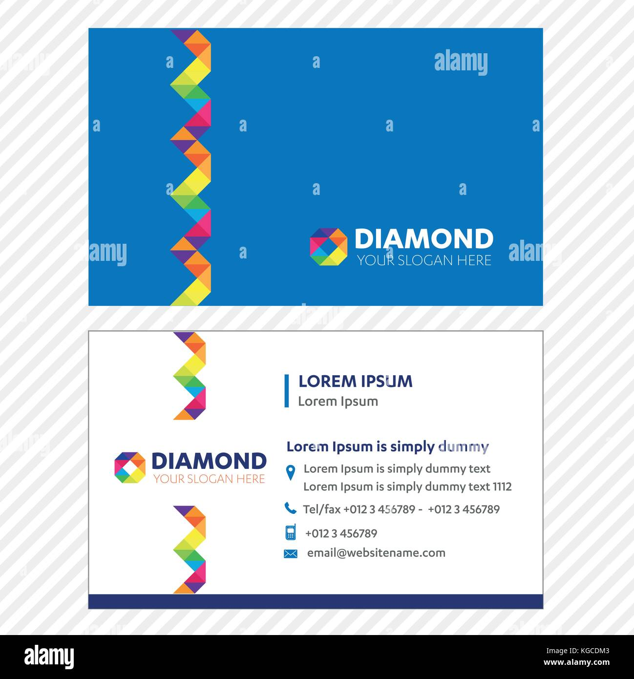 Business card Vector Template, Tech Logo Link Network, Visiting Card ...