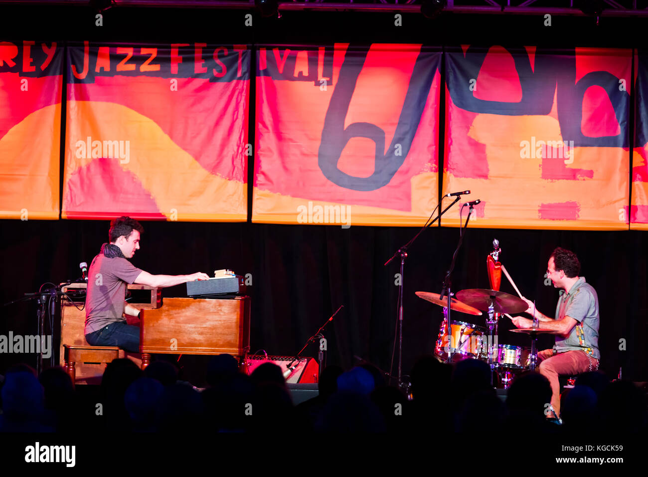 WIL BLADES on the Hammond B3 organ and SCOTT AMENDOLA on drums - 60th MONTEREY JAZZ FESTIVAL, CALIFORNIA - Stock Image