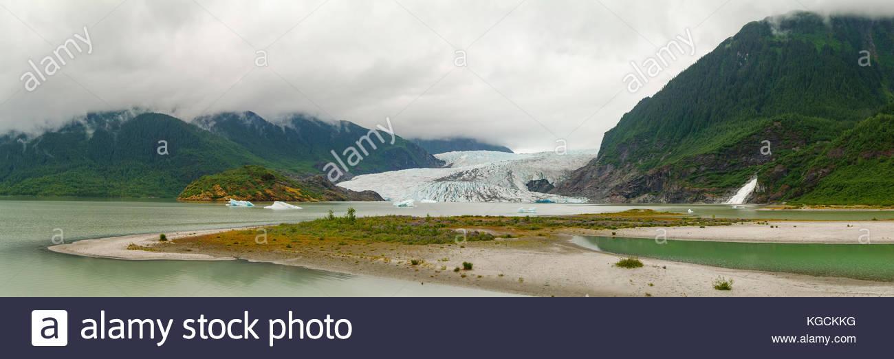 The Mendenhall Glacier near Juneau, Alaska. - Stock Image