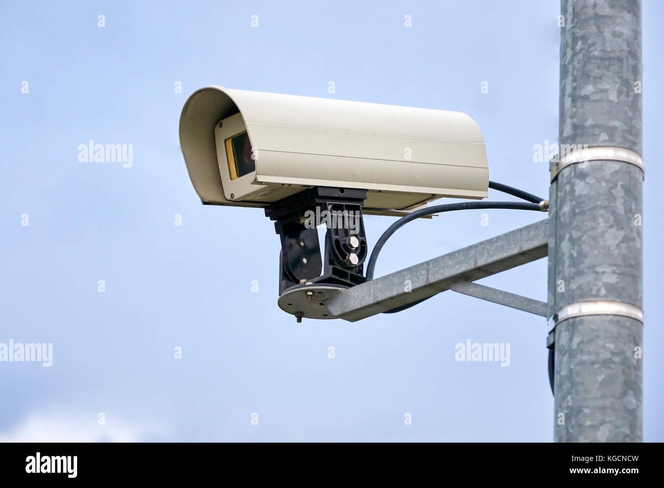 surveillance cctv cam in public areas - Stock Image