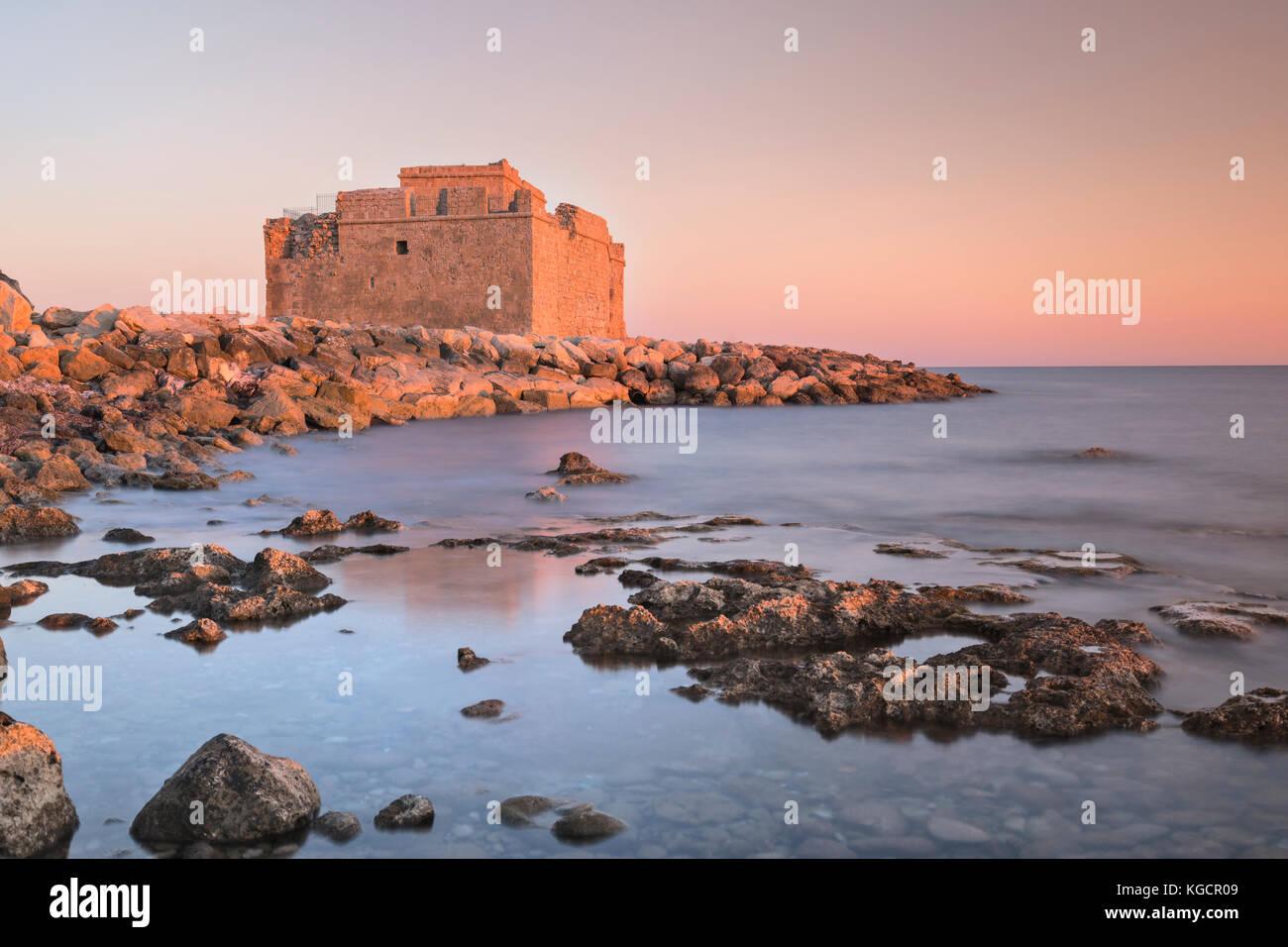 Paphos Castle, Paphos, Cyprus Stock Photo