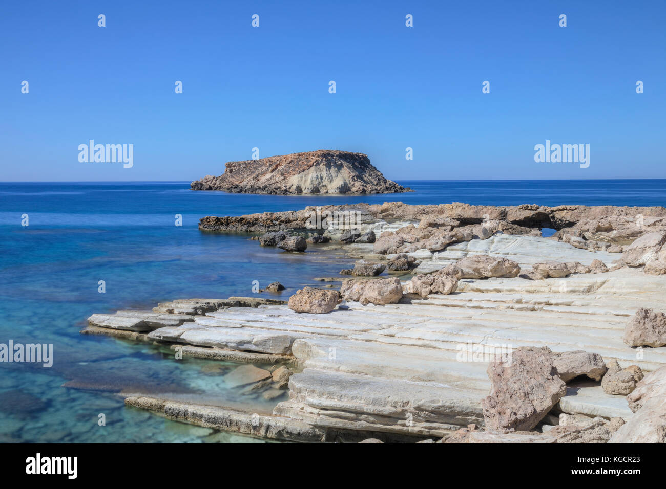 Agios Georgios Harbour, Pegeia, Paphos, Cyprus - Stock Image