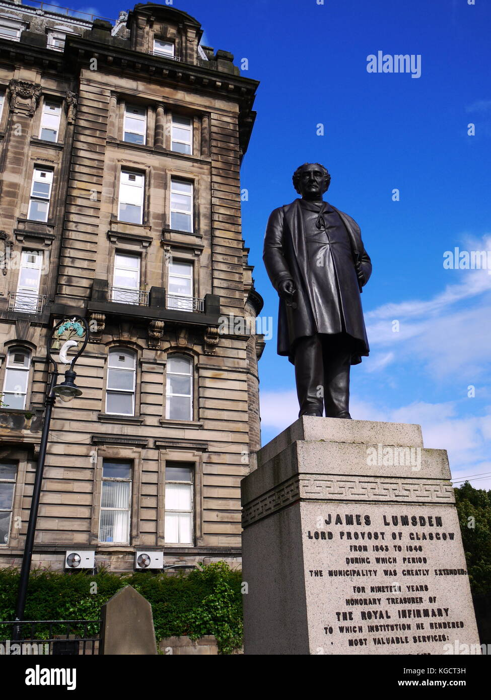 Statue of James Lumsden Catedral Square, Glasgow - Stock Image