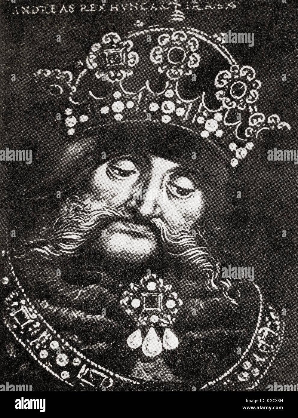 Andrew III of Hungary aka Andrew III the Venetian, c. 1265 – 1301.  King of Hungary and Croatia between 1290 and - Stock Image