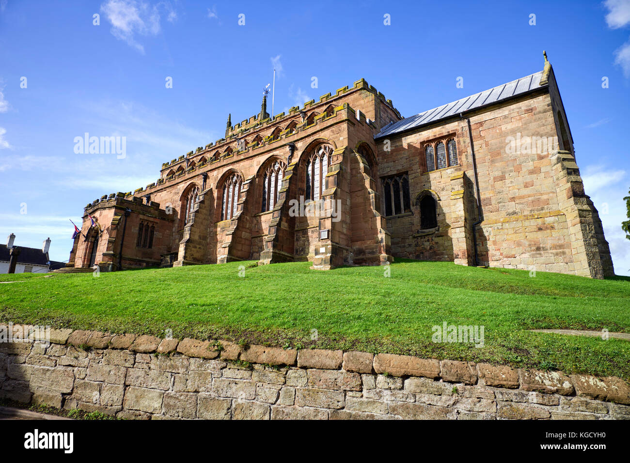 St James' church in Audlem, Cheshire - Stock Image