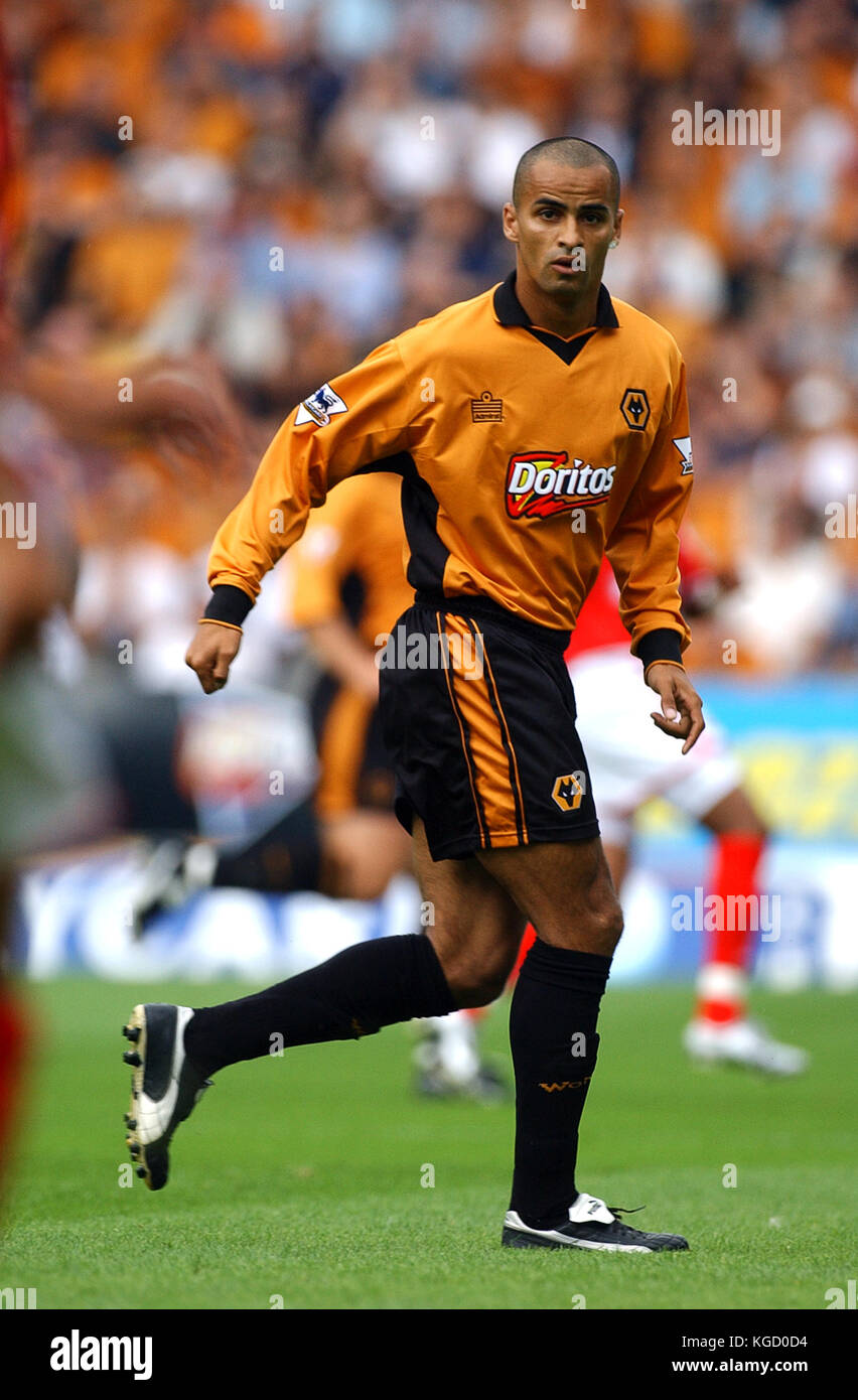 Footballer Jorge Silas Wolverhampton Wanderers v Charlton Athletic 23 August 2003 - Stock Image