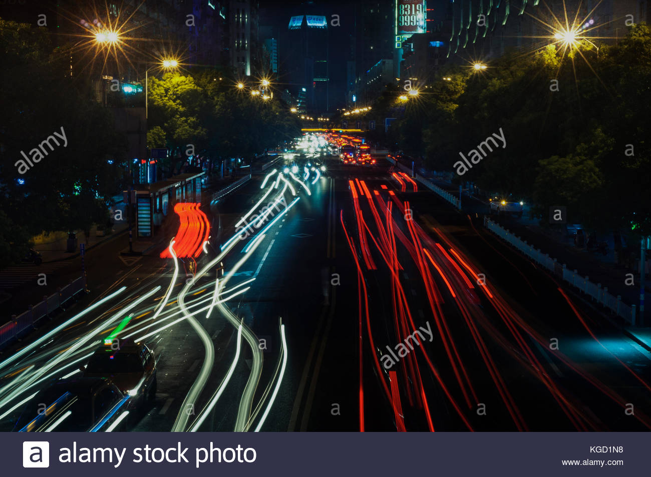 Chaotic traffic - Stock Image