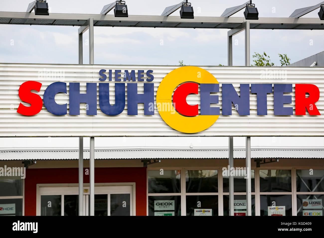 LINDEN, GERMANY JULY 2017: Siemes Schuhcenter ( shoe center ) store. Siemes Schuhcenter GmbH & Co KG based in - Stock Image