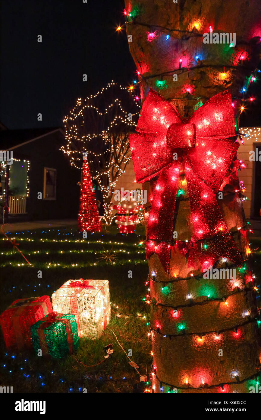 outdoor decorations for the holiday season Stock Photo