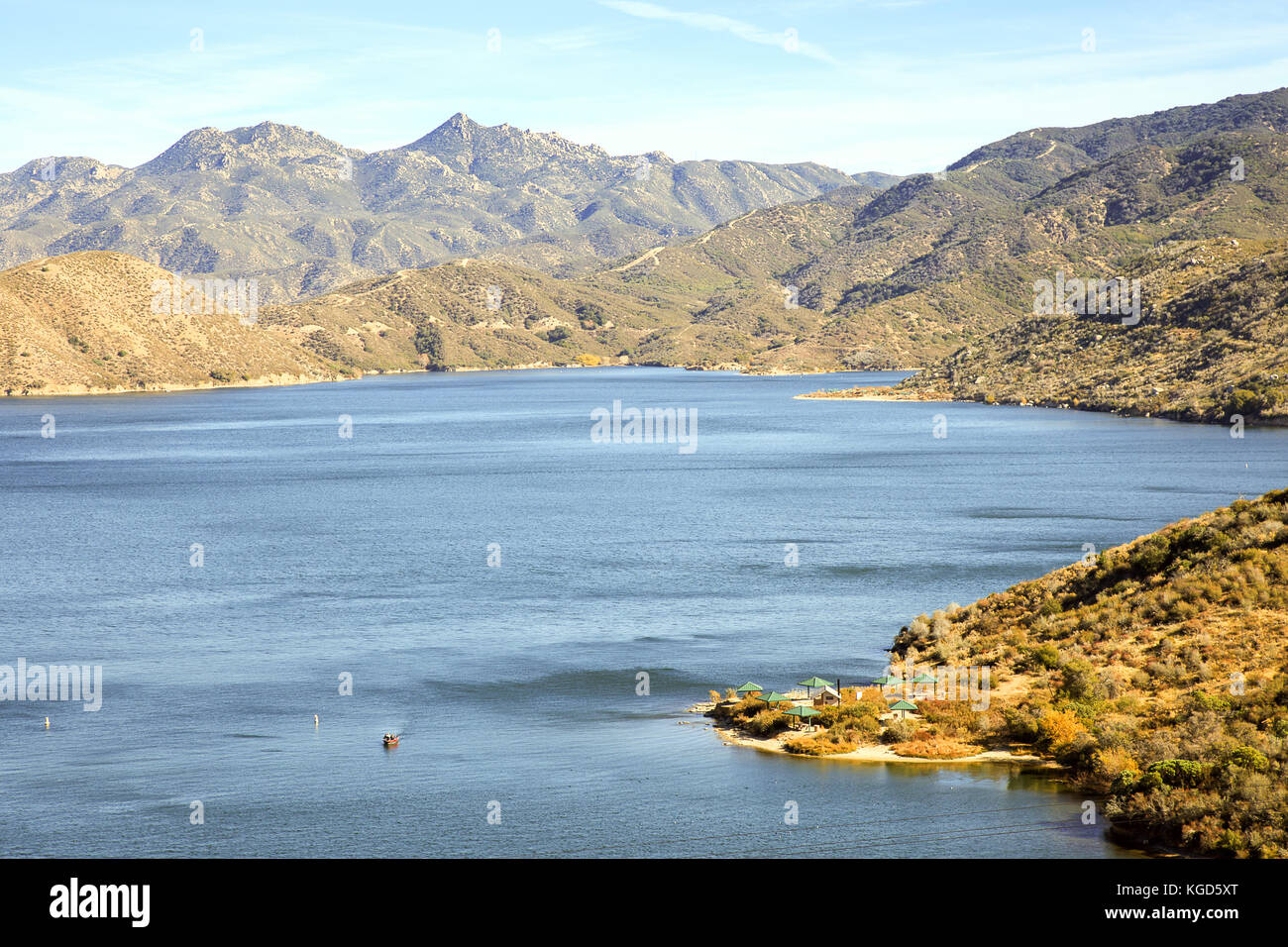 Overview of Silverwood lake state recreational area - Stock Image