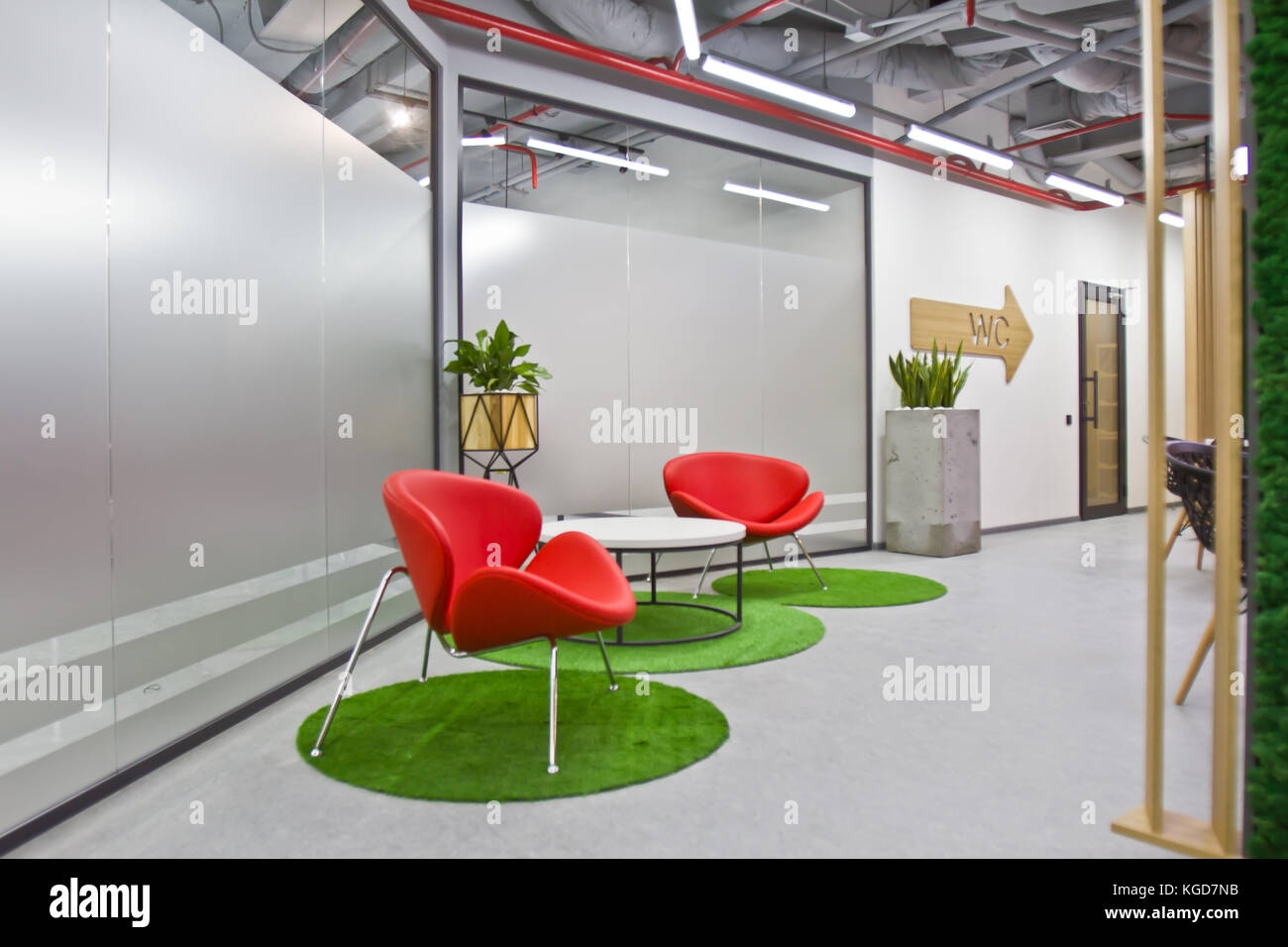 A Luxurious Sitting Area In A Small Office With A Modern Interior Stock Photo Alamy