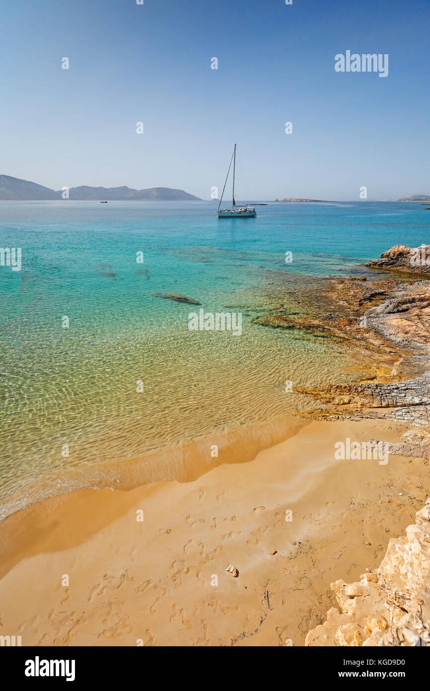 Geranos beach of Koufonissi island in Cyclades, Greece - Stock Image