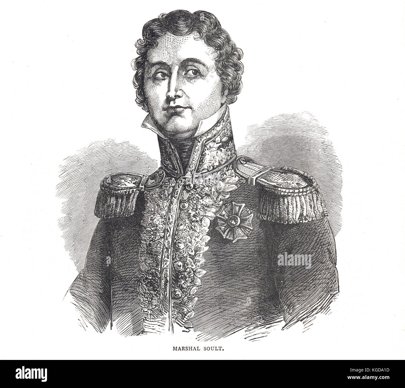 Marshal Jean-de-Dieu Soult, 1769-1851, 1st Duke of Dalmatia, French general and statesman.  Three times Prime Minister - Stock Image