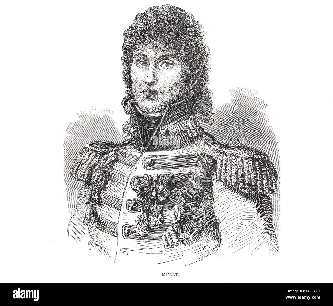 Joachim Napoleon Murat, King of  Naples, 1808-15 - Stock Image