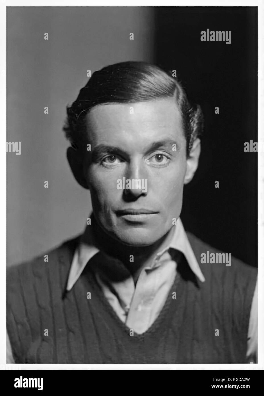 Peter Fleming (1907-1971) British explorer and author and adventurer, elder brother to Ian Fleming. Studio photograph - Stock Image