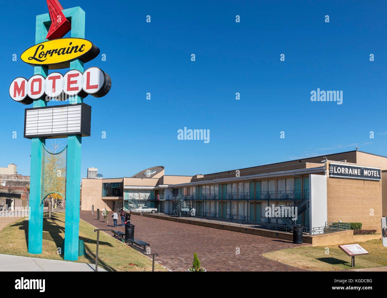 The National Civil Rights Museum at the Lorraine Motel, Memphis,Tennessee, USA - Stock Image