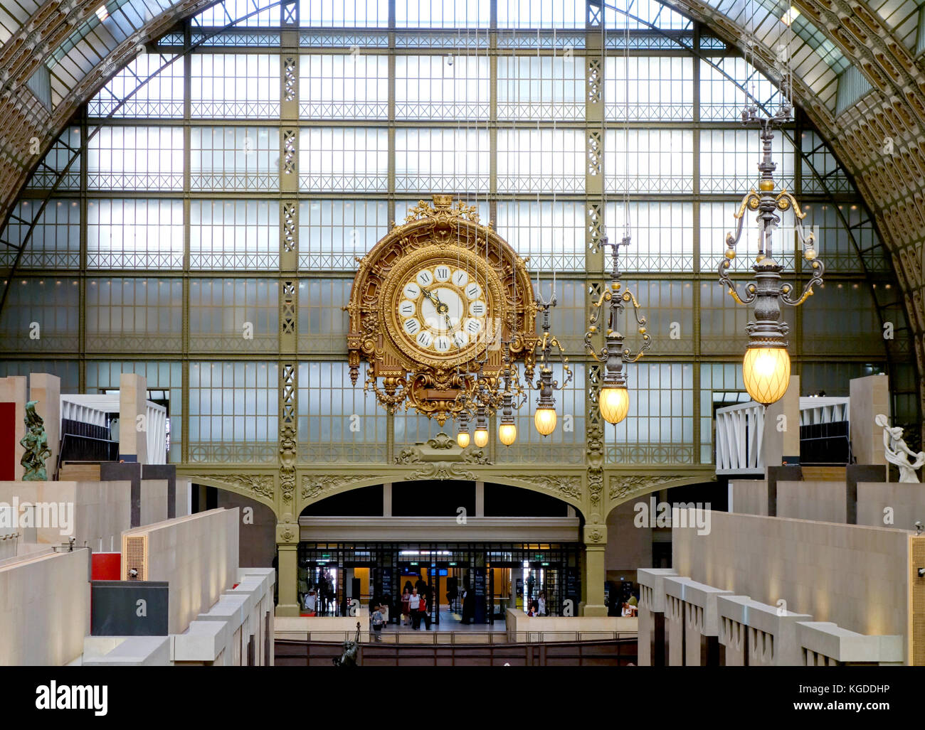 Interior of Musee d'Orsay, Paris, 2017. - Stock Image