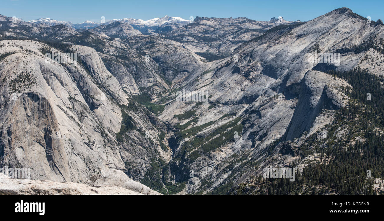 A View Of The Sierra Nevada Mountain Range From The Top Of Half Dome Stock Photo Alamy