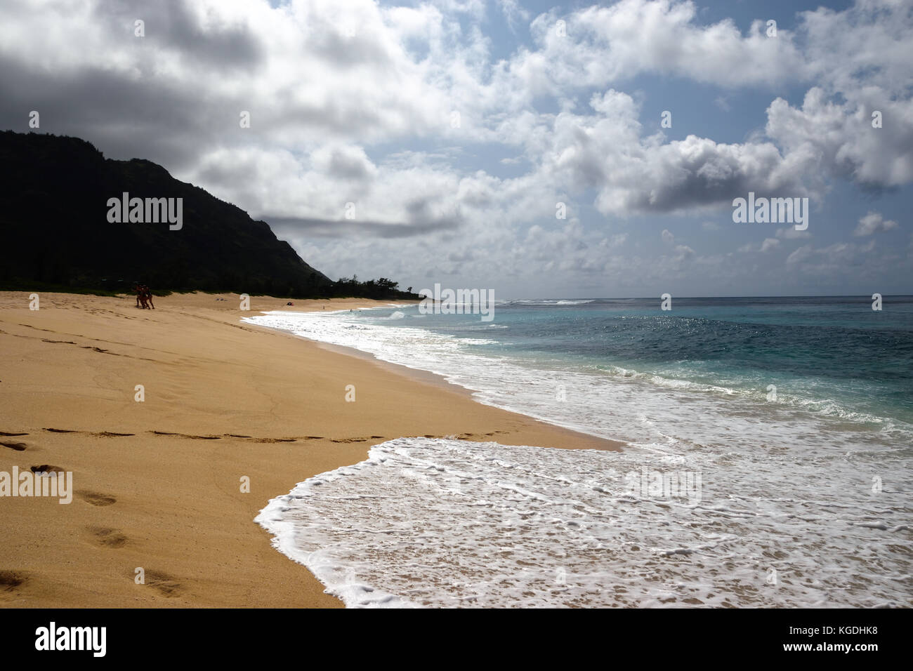 Mokuleia beach - Oahu, Hawaii - Stock Image