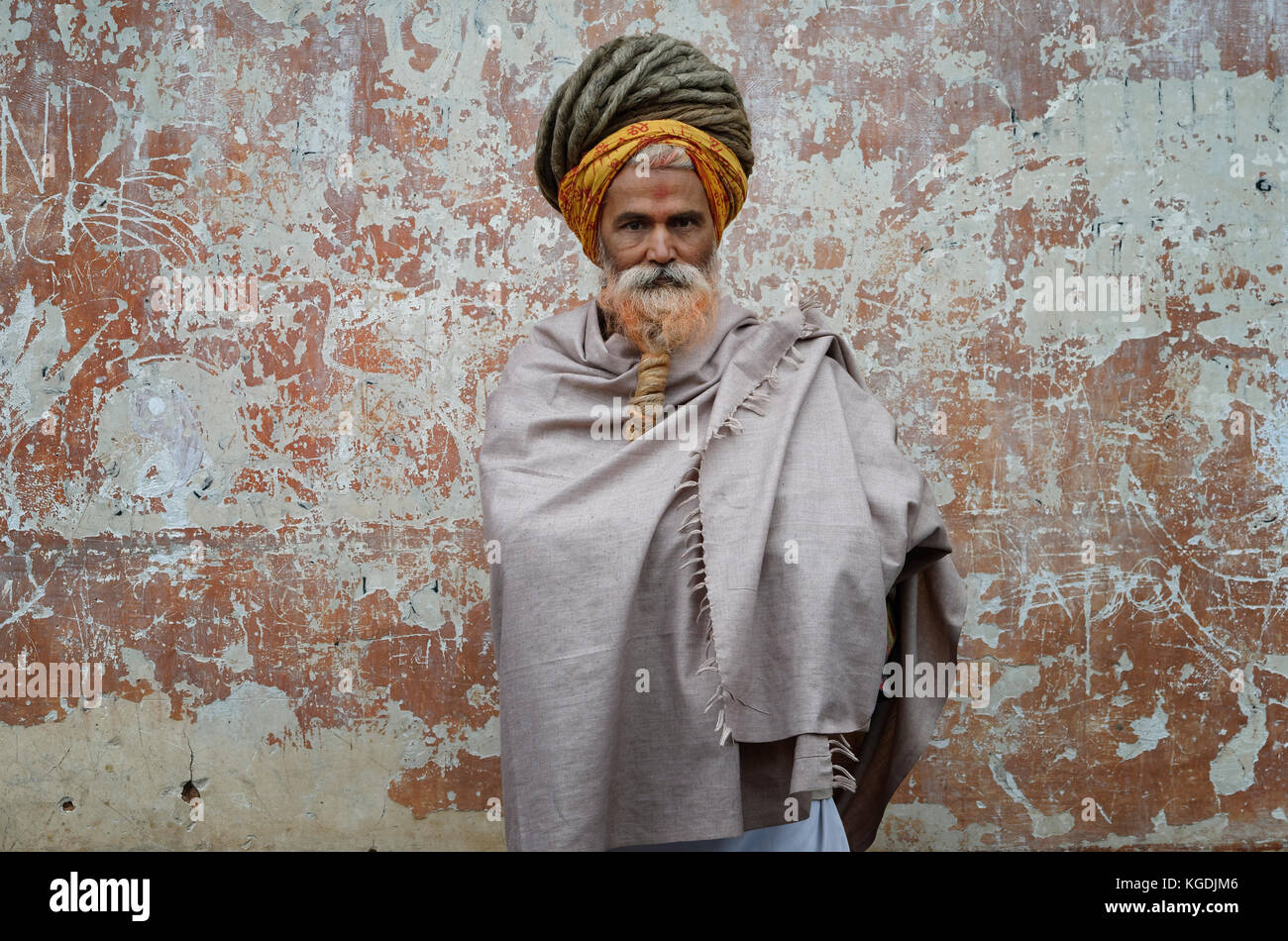 Hinduist Sadhu, Holy Man, Pashupatinath Temple, Kathmandu, Nepal Stock Photo