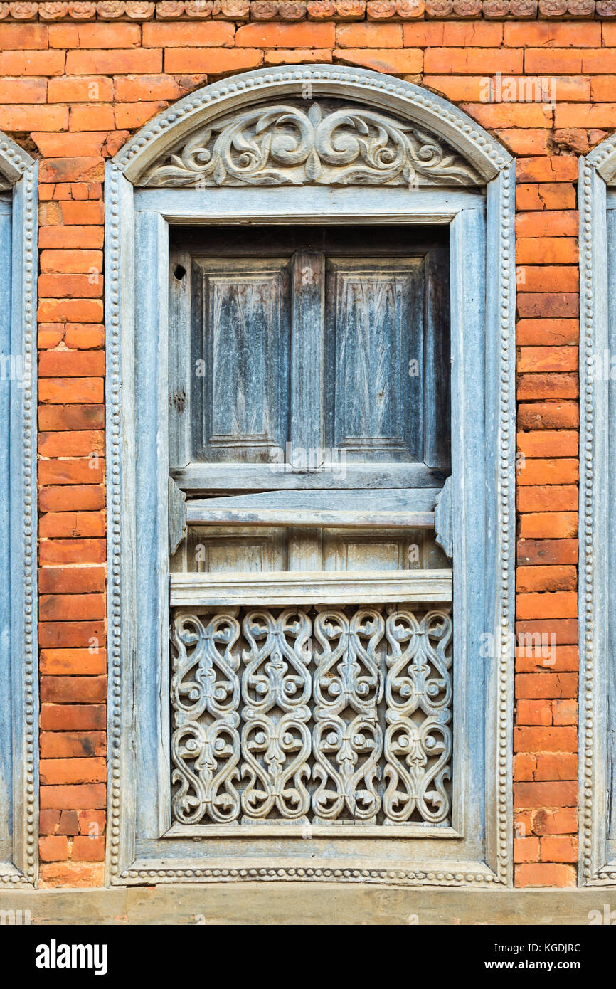 Newari style stock photos newari style stock images alamy for Window design in nepal