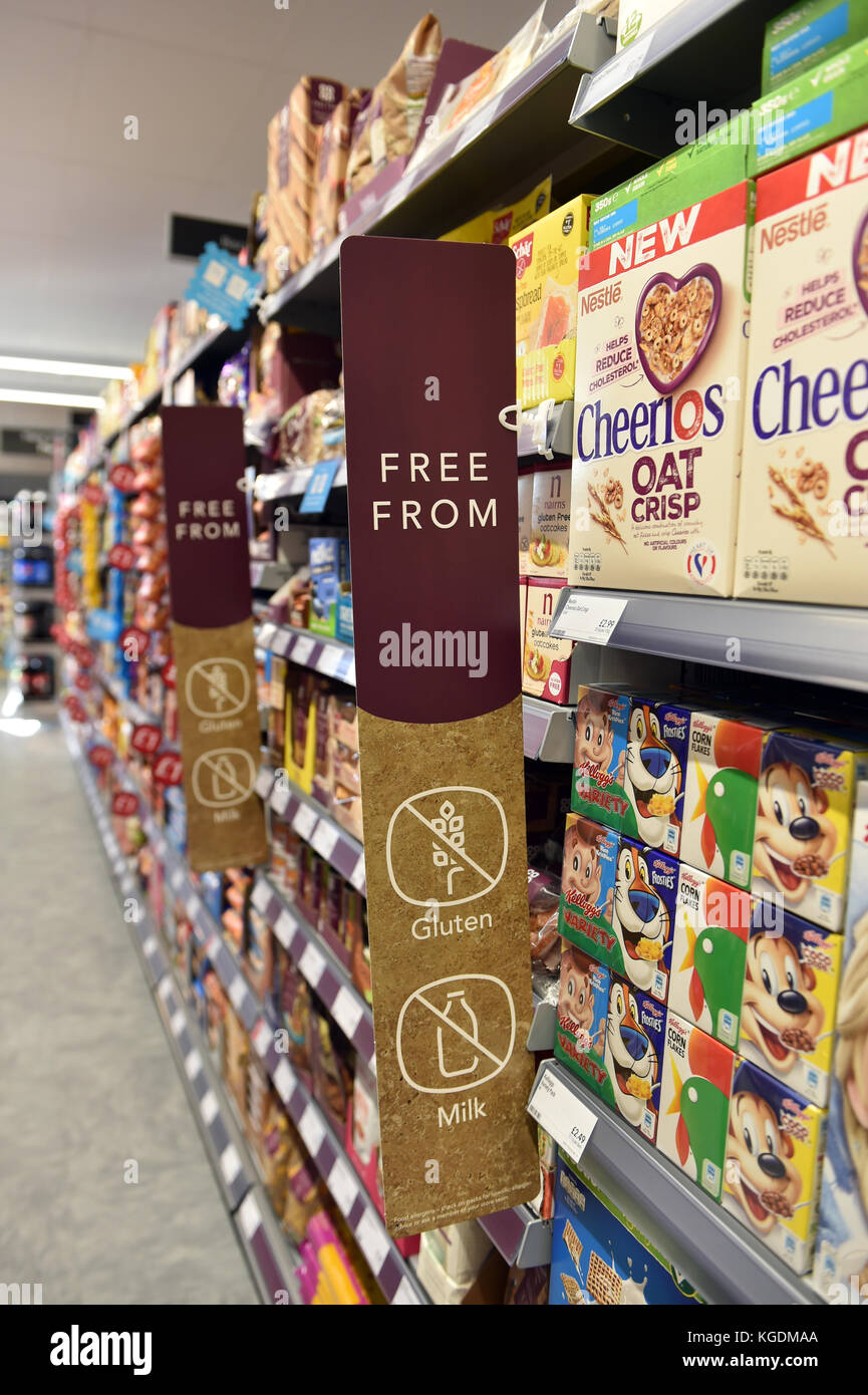 Free from range at the Co-op supermarket UK gluten, dairy free - Stock Image