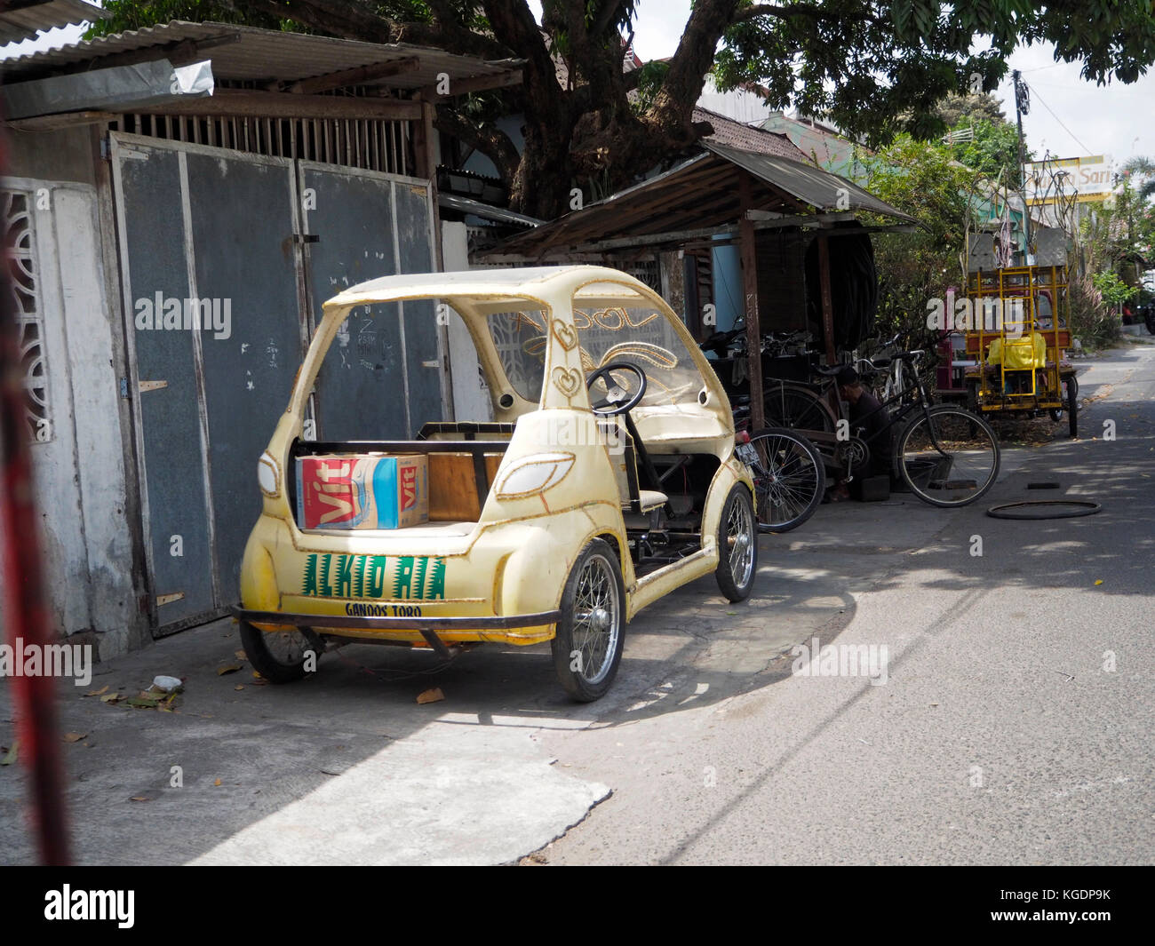 Home made car in Jogjakarta, Central Java, Indonesia Stock Photo