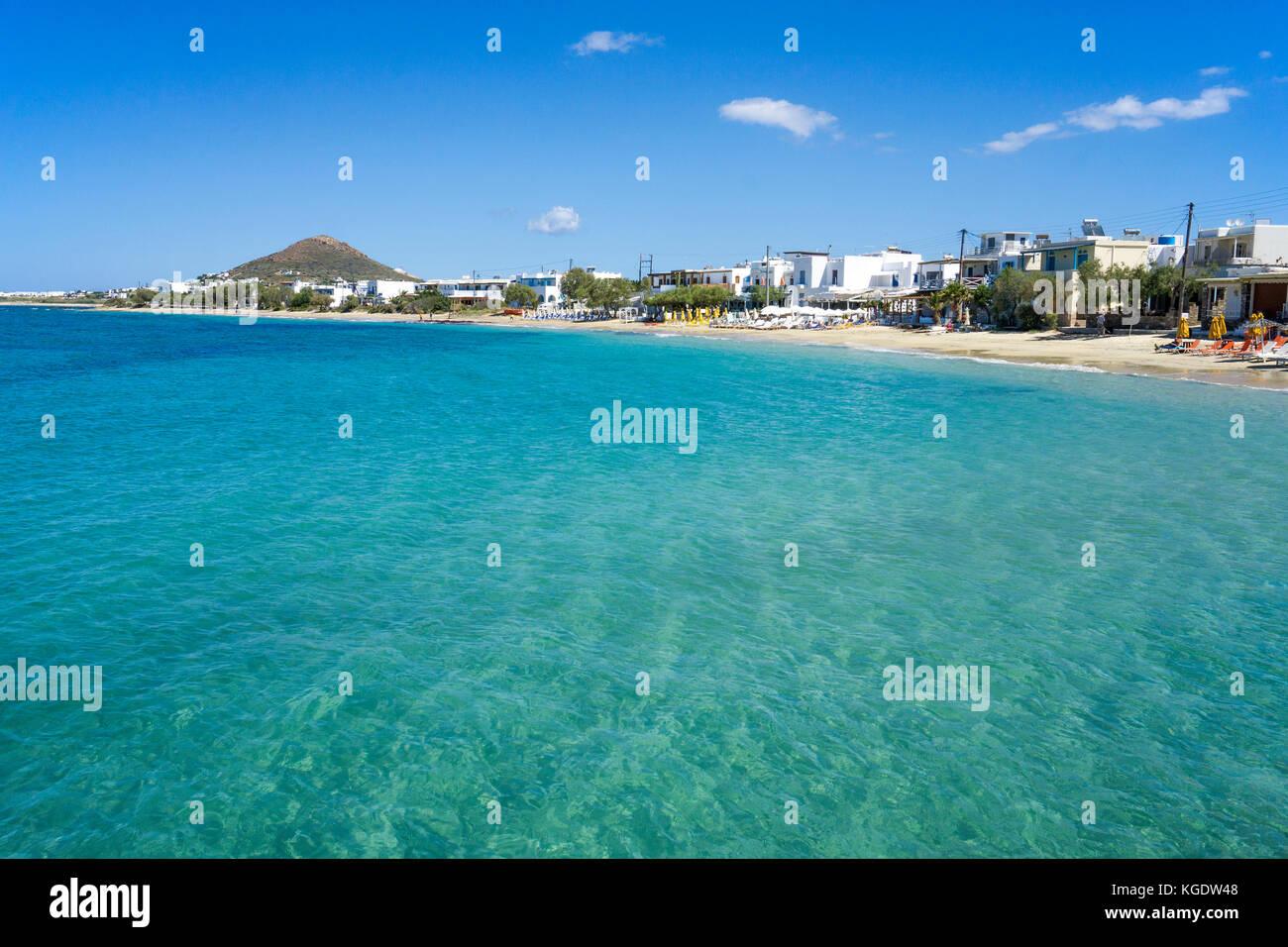 Beach of Agios Prokopios ,west side of Naxos, Cyclades, Greece, Mediterranean Sea, Europe Stock Photo