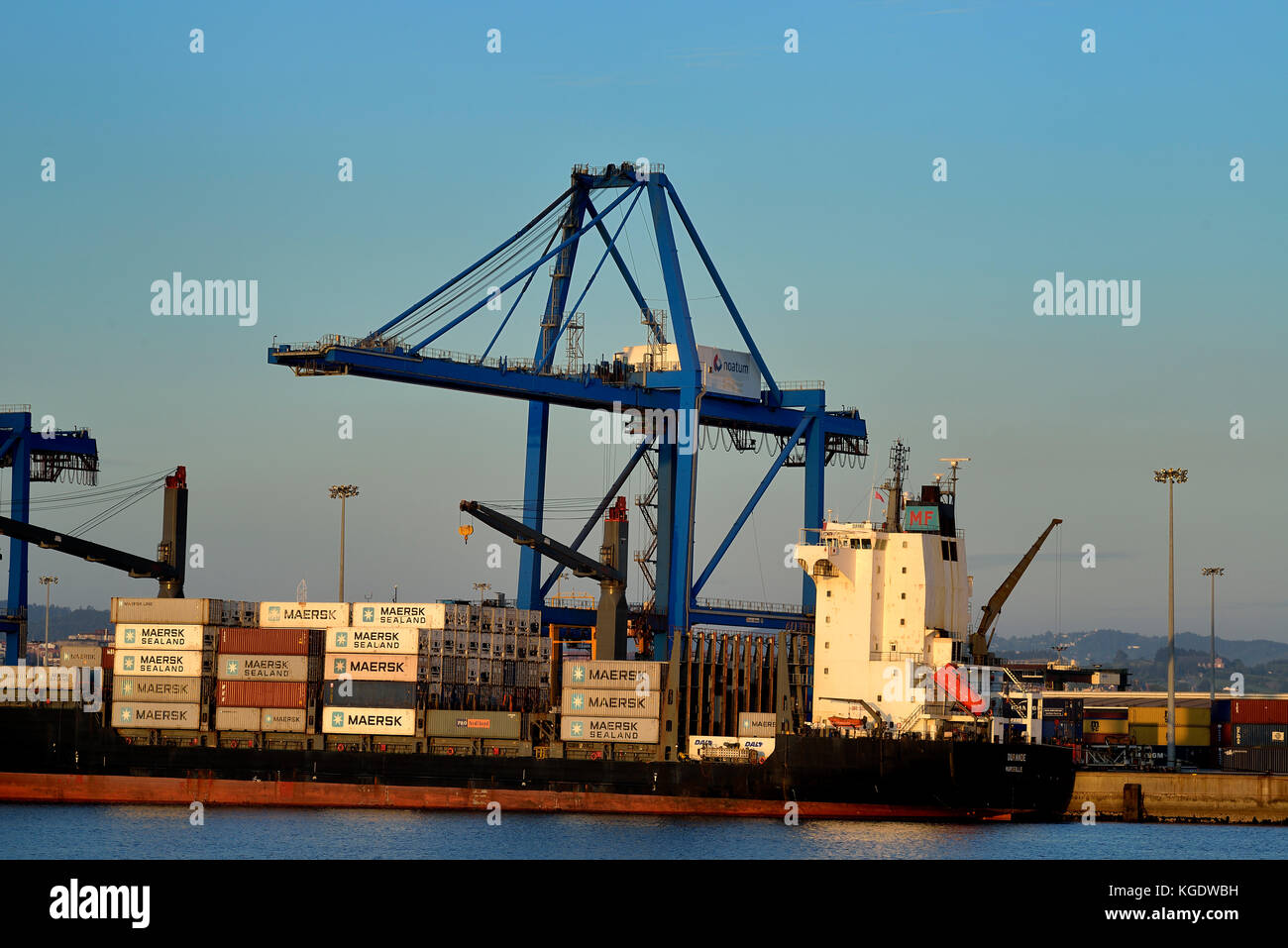 Port of Bilbao, Biscay, Basque Country, Euskadi, Spain, Europe, Stock Photo