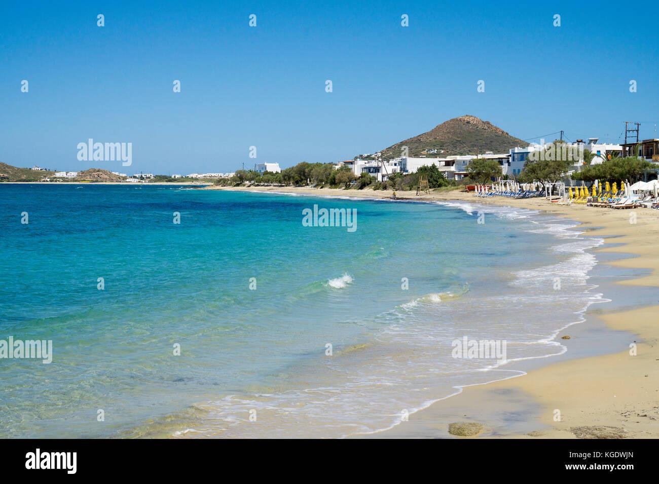 Beach of Agios Prokopios, west side of Naxos island, Cyclades, Aegean, Greece Stock Photo
