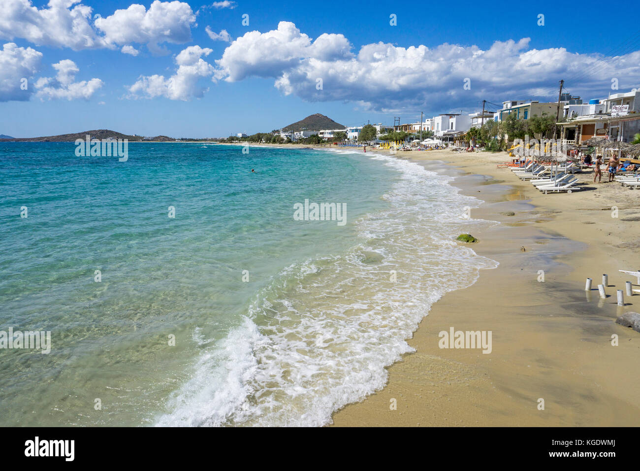 Beach of Agios Prokopios, west side of Naxos island, Cyclades, Aegean, Greece Stock Photo
