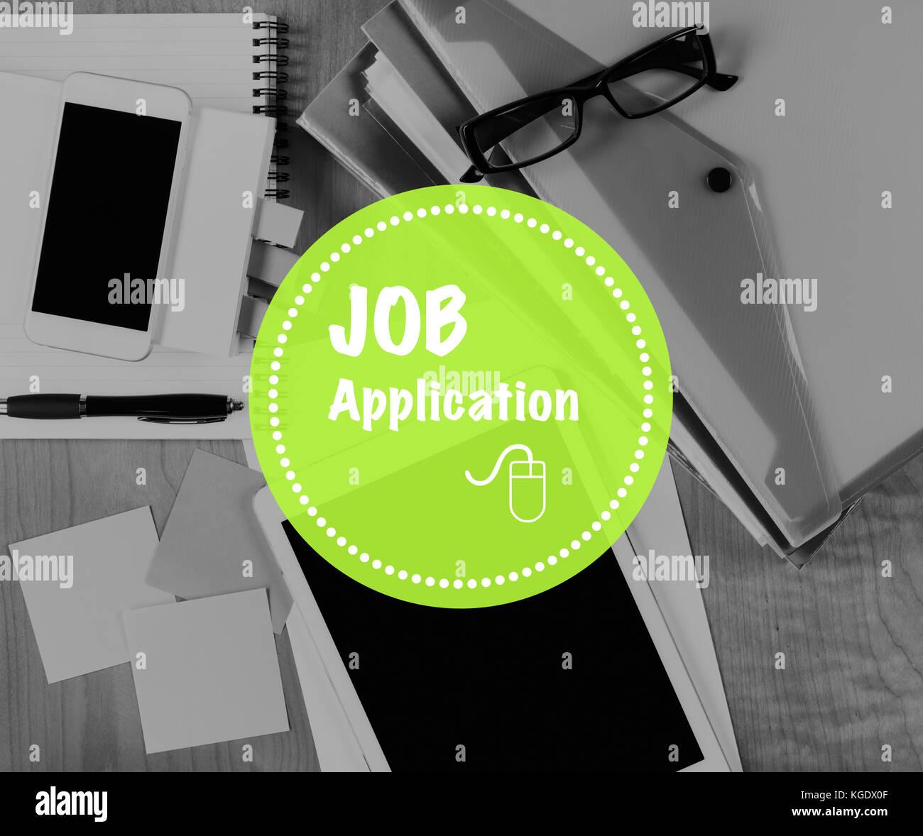 Online Job Application Career Employment Concept - Stock Image