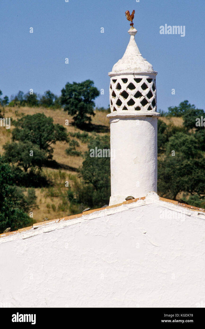 Portugal Algarve : The chimneys There are a characteristic of the architectural heritage of this region. Some are - Stock Image